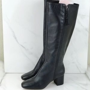 Enzo Angiolini Black Riding Knee High Boots size 9